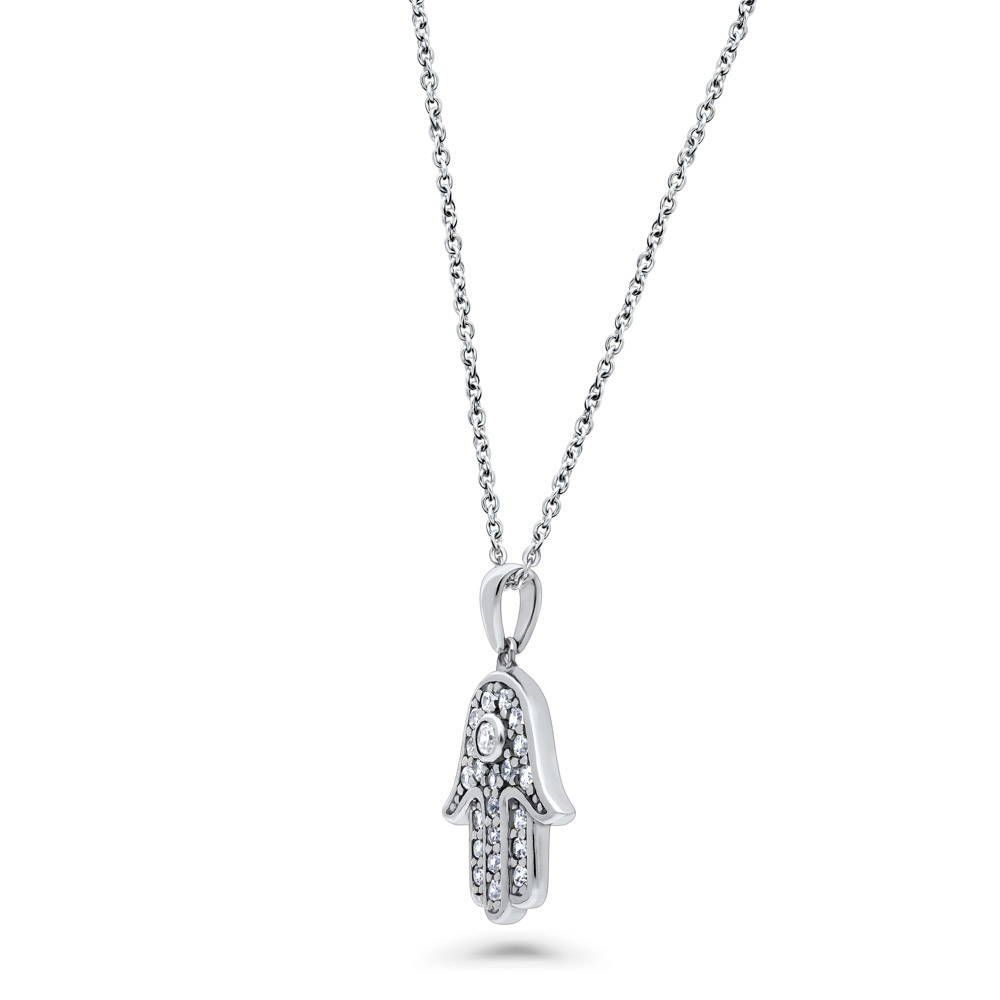 Hamsa Necklace & Earring set made with Premium Zirconia