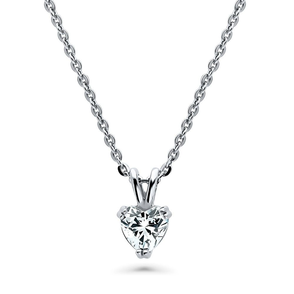 Heart Shaped Necklace Made with Swarovski® Zirconia