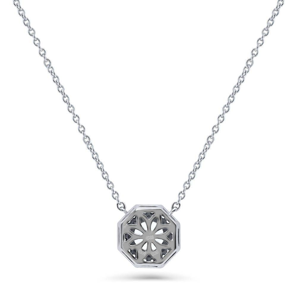 Halo Art Deco Necklace Octagon Sun Cut Made with Swarovski® Zirconia