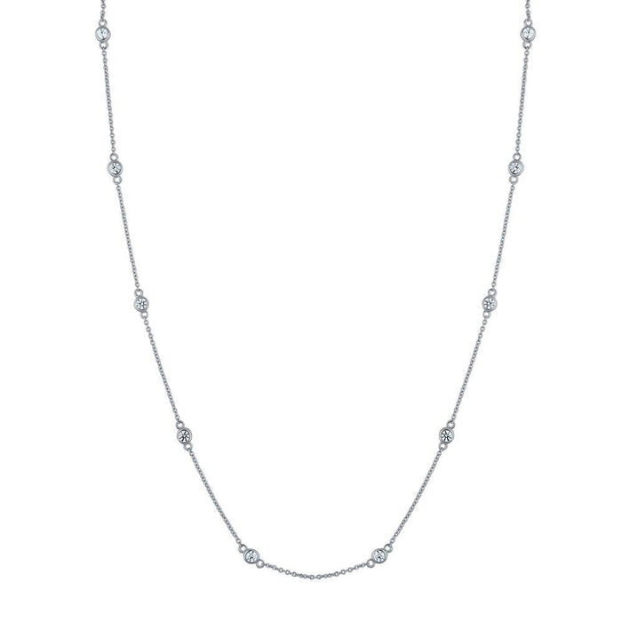 Station Necklace Made with Swarovski® Zirconia