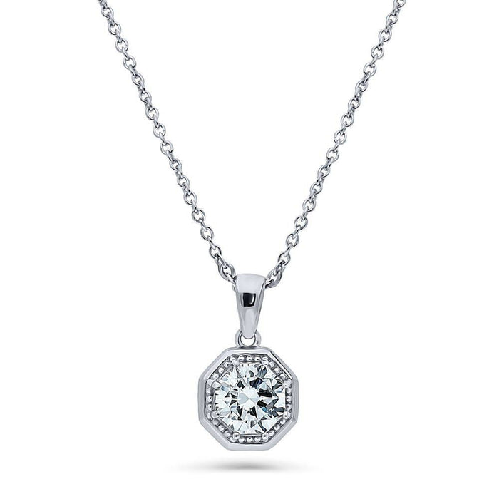 Art Deco Milgrain Necklace made with Swarovski® Zirconia