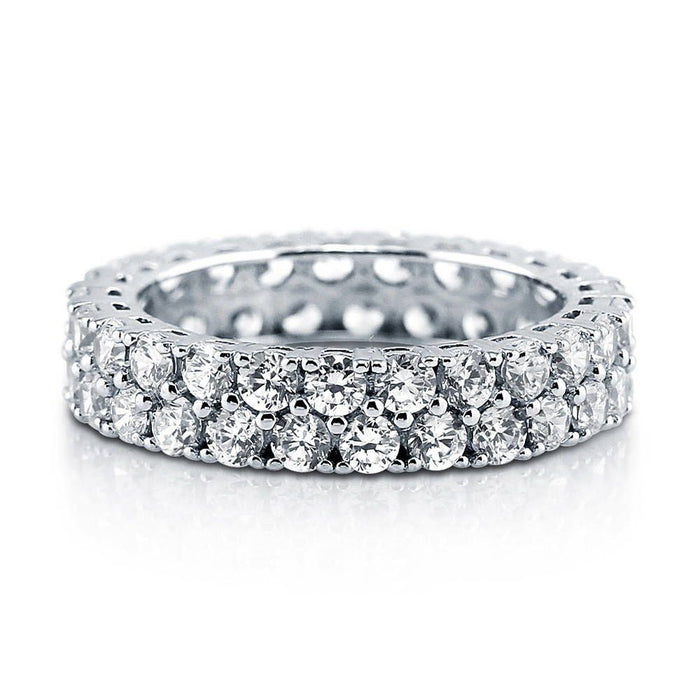 Double Row Full Eternity Ring made with Premium Zirconia
