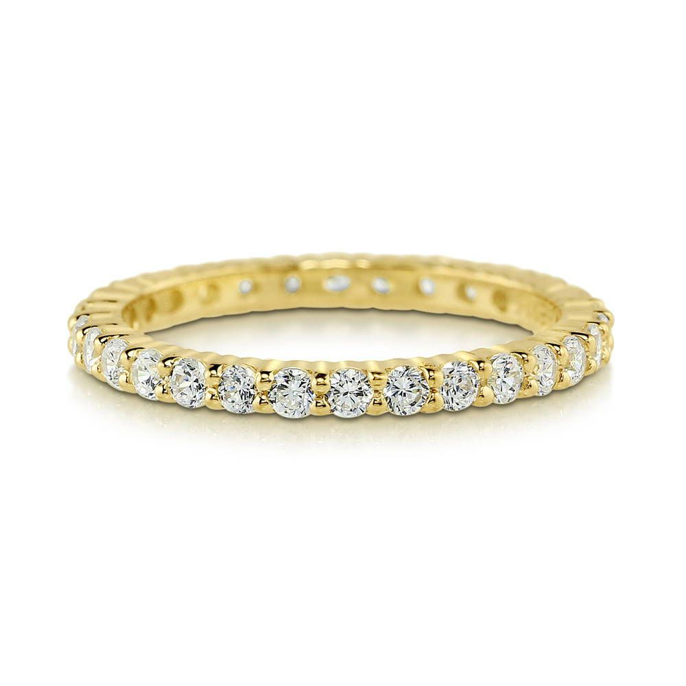 Gold Full Eternity Ring (2mm) made with Premium Zirconia