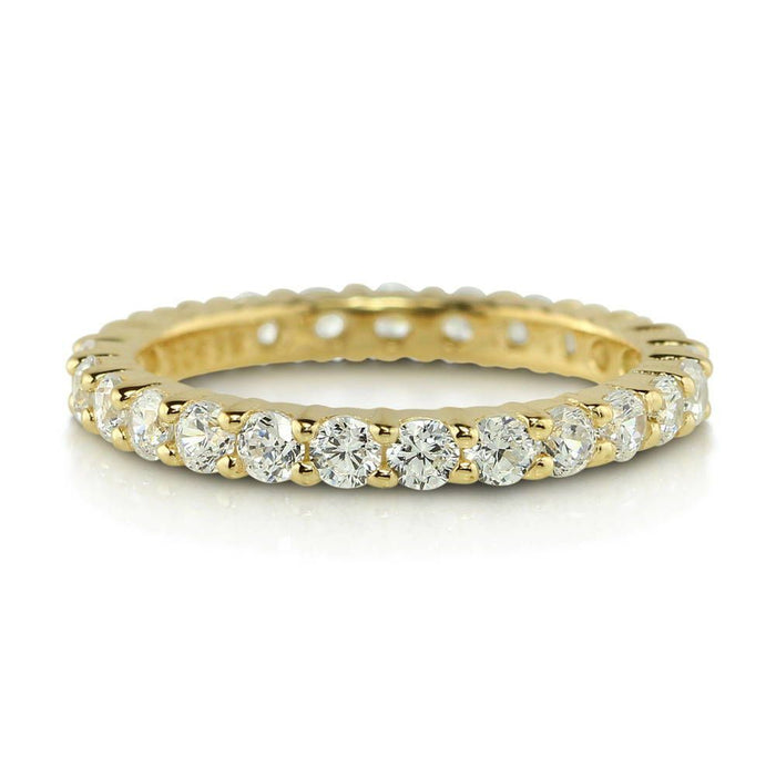 Gold Full Eternity Ring made with Premium Zirconia