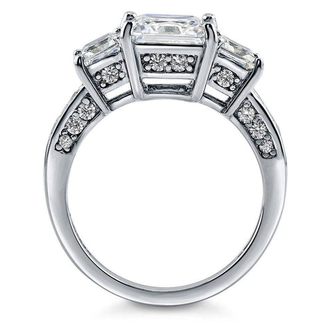 Princess Cut Trio Ring made with Premium Zirconia