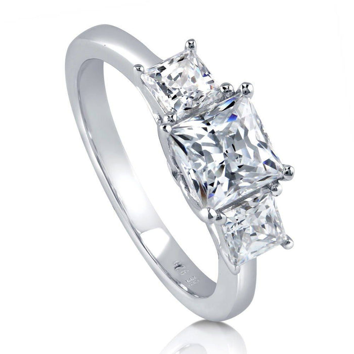 3-Stone Princess Cut Ring made with Swarovski® Zirconia
