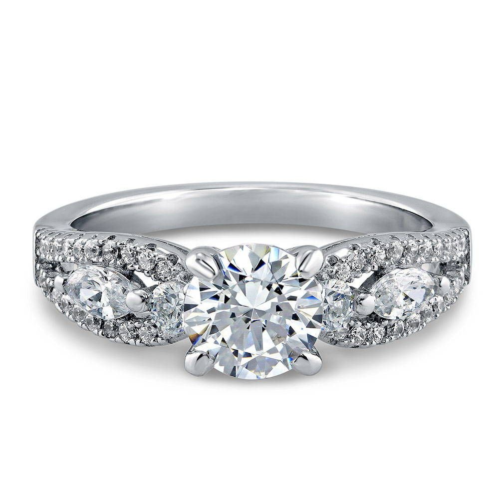 Round Solitaire Ring Made with Swarovski® Zirconia