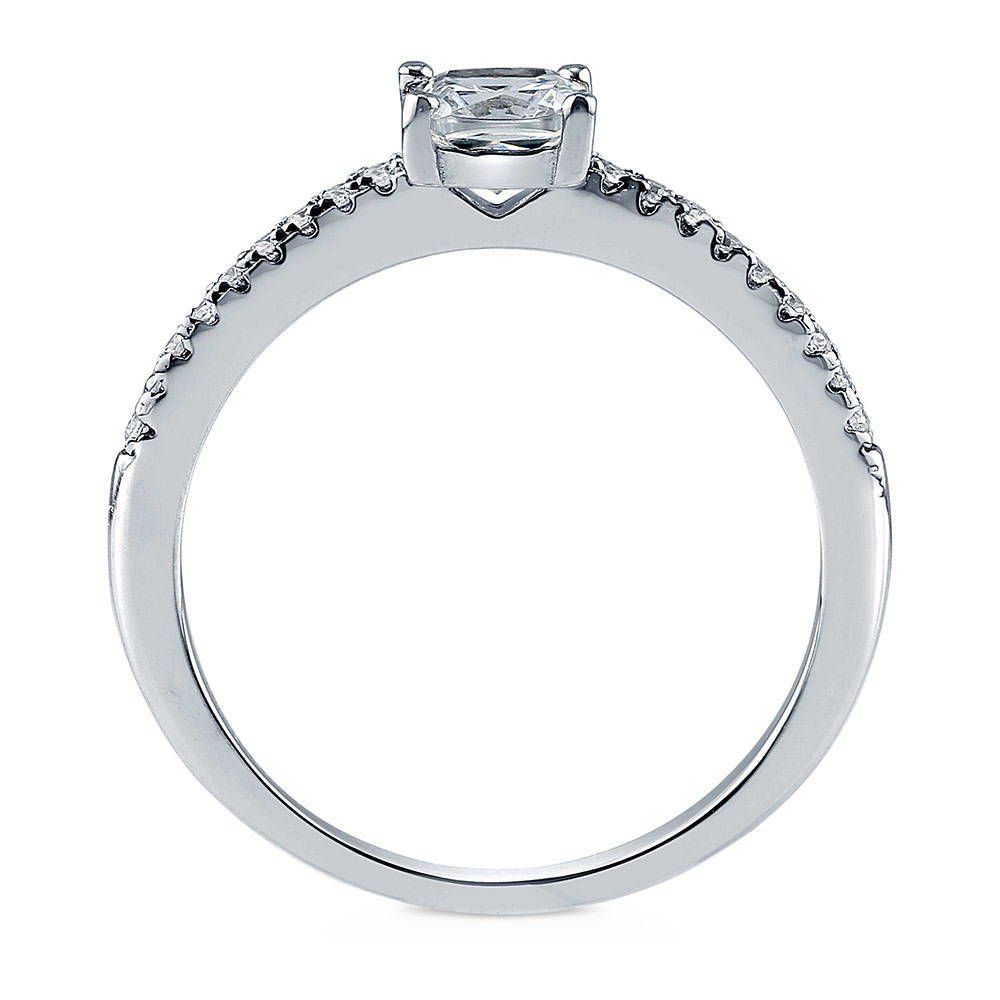 Cushion Solitaire Ring made with Premium Zirconia