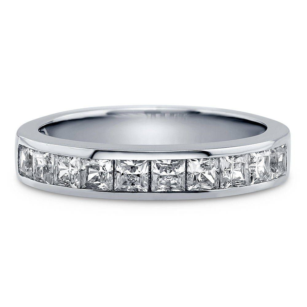 Channel Set Princess Half Eternity Ring made with Premium Zirconia