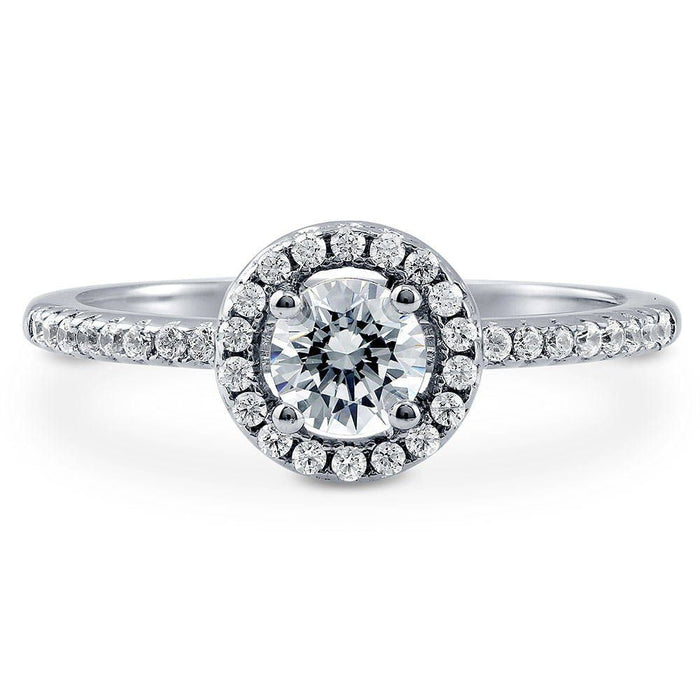 Halo Promise Ring made with Swarovski® Zirconia