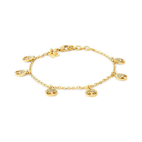 Gold Tree of Life Charm Bracelet