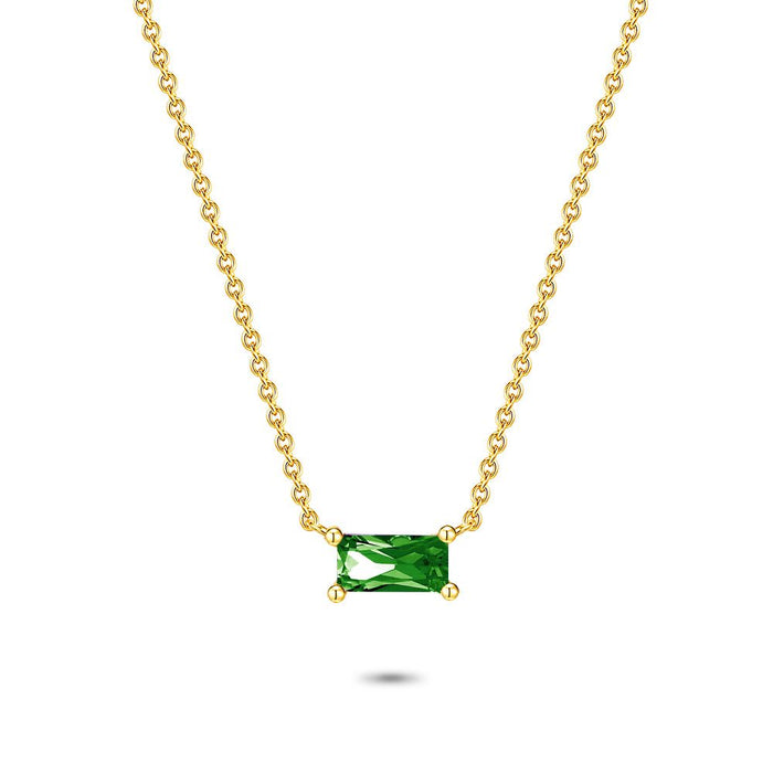 Gold Emerald Cut Necklace