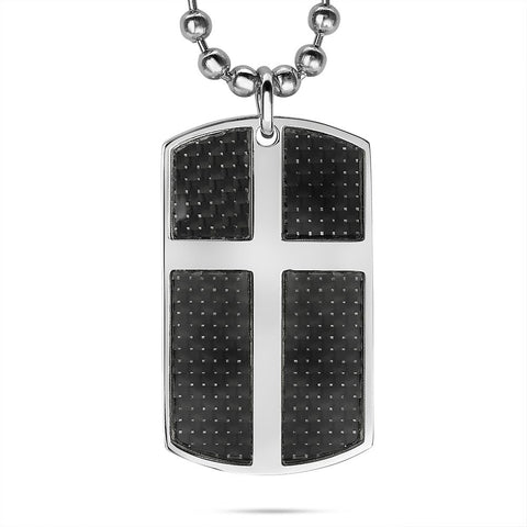 Men's Cross Tag Necklace