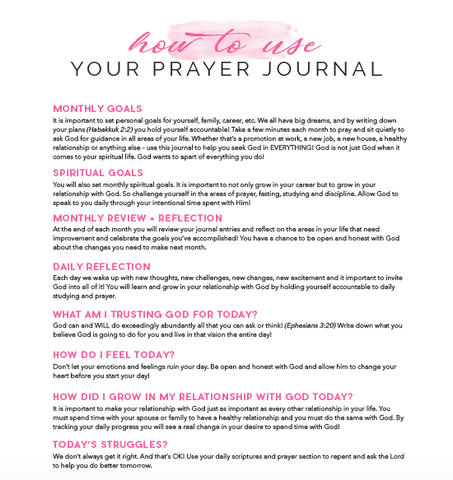 Wake PRAY Slay Prayer Journal
