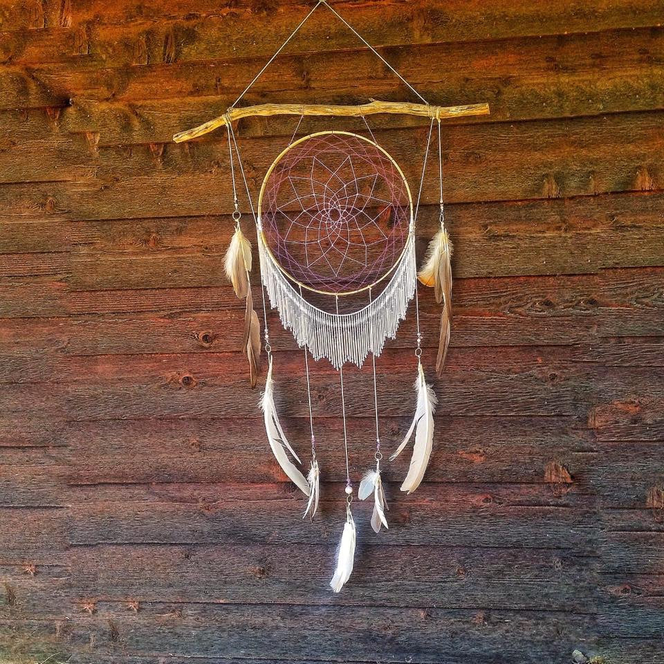 Large Beaded Wall Hanging