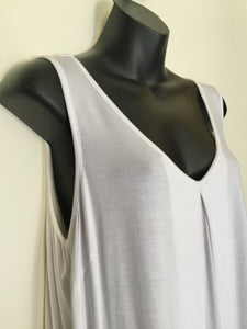 XL White Bamboo Camisole