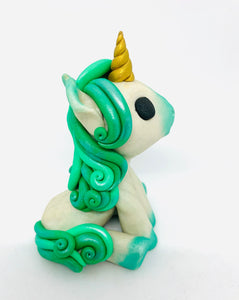 Sitting Unicorn Green
