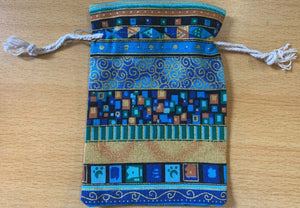 Printed Pouch with Drawstring