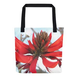 Tote Red Flower