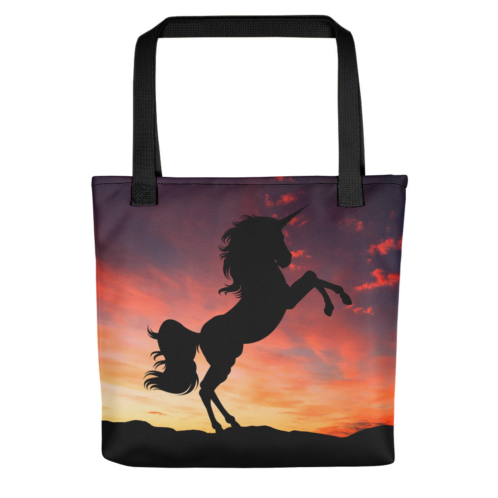 Tote bag Unicorn Sunset