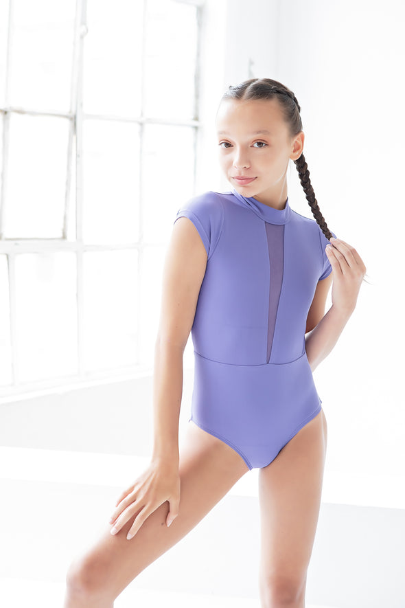 The Stella Leotard (OLL171-IRB) - Iris Bloom