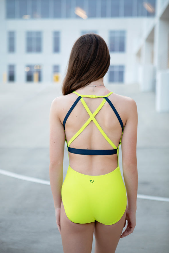 The Reagan Leotard (OLL137-CHT) - Chartreuse
