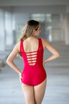 The Sadie Leotard (OLL172-CRM) - Crimson