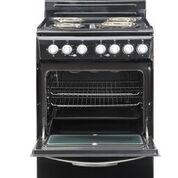 Epic 24 Inch Retro Style Electric Range in Black-EER24BL:Kitchen Equipment Concepts