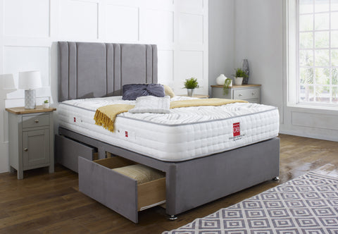 Khloe Divan Bed Set with Headboard - Divan Bed Warehouse