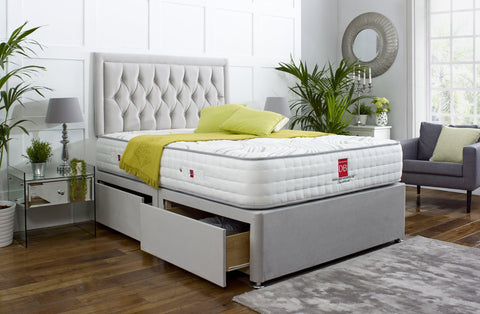 Windsor Divan Bed Set with Button Headboard - Divan Bed Warehouse