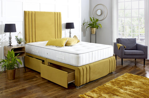Naples Divan Bed Set with Tall Headboard and Footboard - Divan Bed Warehouse