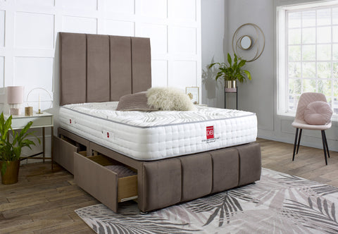 Milan Divan Bed Set with Tall Headboard and Footboard - Divan Bed Warehouse