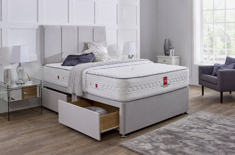 Worcester Divan Bed Set with Headboard - Divan Bed Warehouse