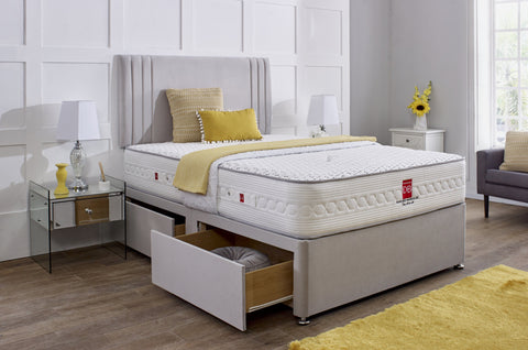 Valencia Divan Bed Set with Headboard - Divan Bed Warehouse