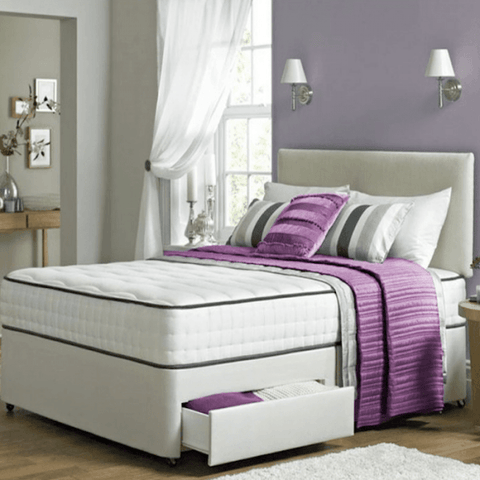 Essentials Divan Bed Set With Sprung Memory Foam Mattress - Divan Bed Warehouse