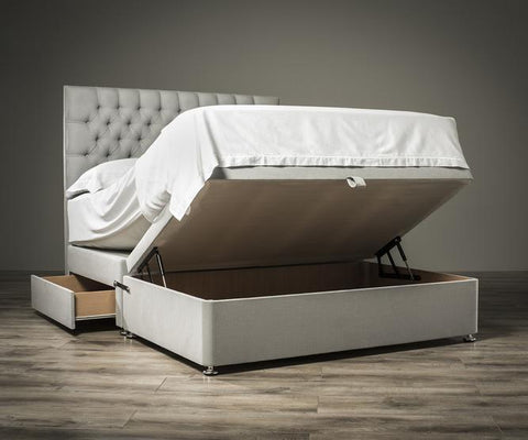 Luxury Half End Lift Ottoman Divan Bed Base - Divan Bed Warehouse