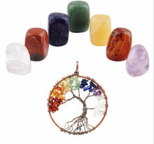 Chakra Meditation Kit, protection pendant, crystals, meditation, healing, tumbled stones