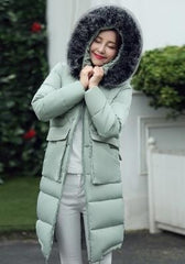 Fashion Long Winter Women Fur Down Coat Jacket - Stylished Shop