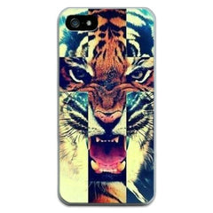 For Apple Iphone 6 6S 5 5S SE 4 4S 7 7 Plus Phone Bags Cases Soft Thin Tiger Cat Print Cases For Iphone6 6S Shell - Stylished Shop