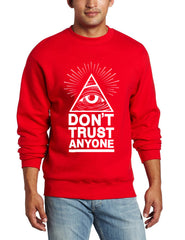 Dont Trust Anyone all seeing eye Men Sweater