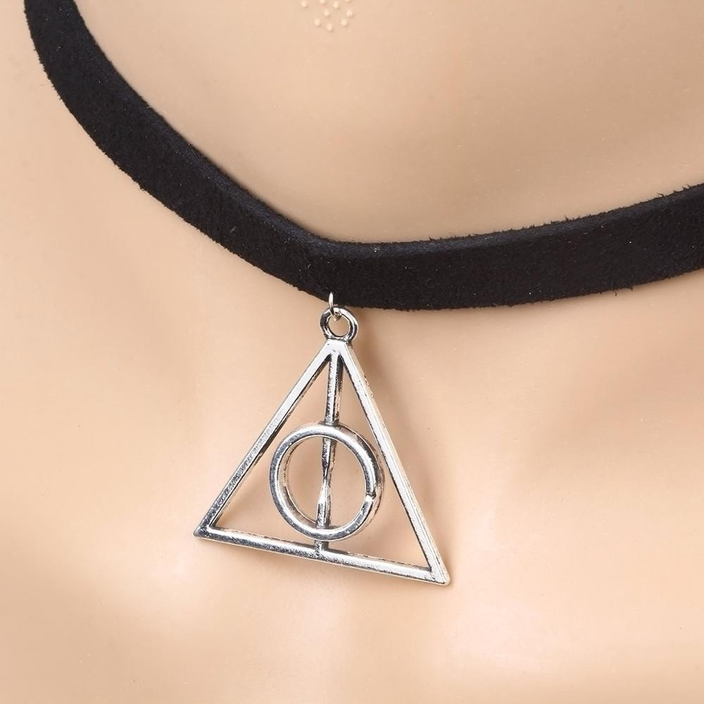 New fashion minimalist black velvet collar necklace from Harry Potter films