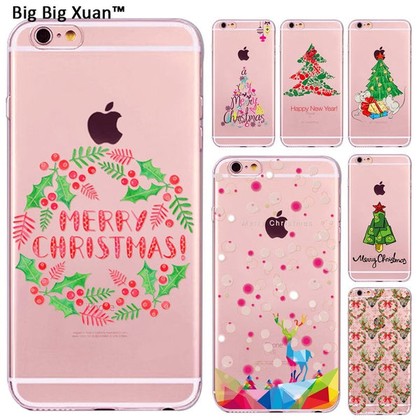 Christmas Decoration Cute Cat Owl Elk Animals Design Cases For iPhone 7 5 5s 6 6s Plus Phone Cover Xmas New Year Gift Funda Capa - Stylished Shop