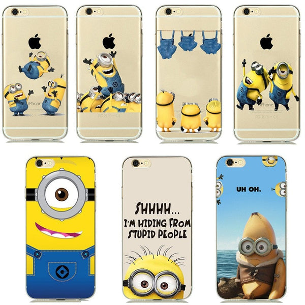 Cute Minion soft Phone Case Cover for iphone's