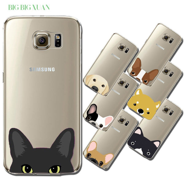 Cute Cat Dog Cases Cover For Samsung Galaxy S6 S6Edge S6edge+ Plus Ultra Thin Transparent - Stylished Shop