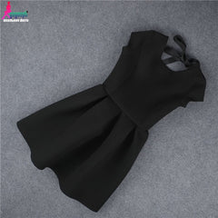 Cute Backless dress Party Night Womens Dress Sexy Halter Bow Princess Vintage Dress Robe Femme Vestido De Fiesta - Stylished Shop