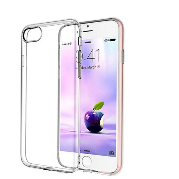 For iPhone 7, Plus 0.3mm Ultra-thin Slim Silicone Soft Clear Case Cover - Stylished Shop