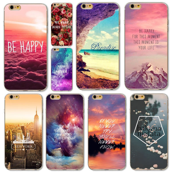 Beautiful Rose Flower Sky City Patterns Cover For Samsung Galaxy S6 S6edge S6edge Plus S7 S7edge Soft Silicon Cases High Quality - Stylished Shop