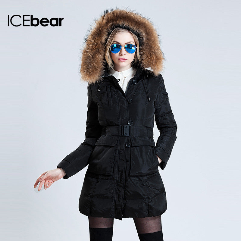Women Brand Clothing Long Parka Thickening Collars Down Jacket Slim Coat - Stylished Shop