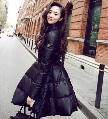 Women Winter Down Jackets Warm Long Slim Coat And Jacket Female Big Swing Yellow/black Ladies Snow Outwear - Stylished Shop