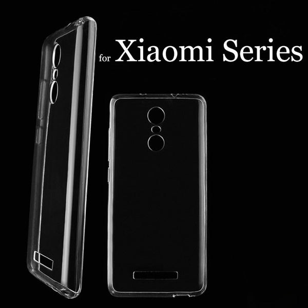 Clear Soft Silicon TPU Coque Phone Cases for Xiaomi Series